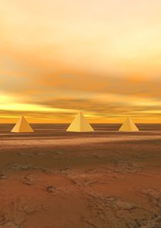 Free Pyramids Yellow Royalty Free Stock Image - 18189896