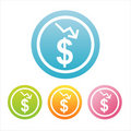 Free Colorful Dollar Signs Royalty Free Stock Photography - 18196027