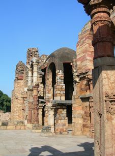 Qutub Minar Monument In New Delhi India Royalty Free Stock Photography