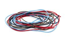 Free Hank Of Multi-colored Elastic Bands Stock Photography - 18190242