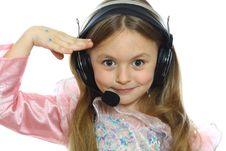 Playful Little Girl Stock Photography