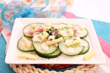 Free Salad Of Cucumbers Royalty Free Stock Photo - 18190565