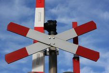 Free Railway Crossing Point Royalty Free Stock Photos - 18190788