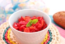 Free Fresh Salad Of Paprika Royalty Free Stock Photography - 18191137