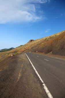 Free Road To El Teide. Stock Image - 18191231