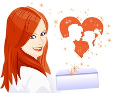Free Vector The Girl Received A Letter About Love Stock Photography - 18191482