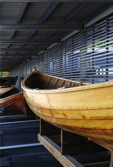 Free Boat In A Boathouse. Stock Image - 18191501