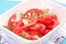 Free A Fresh Salad Of Tomatoes Royalty Free Stock Photo - 18191555