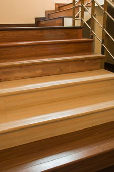 Free Staircase With Laminate Floor Royalty Free Stock Photo - 18193425