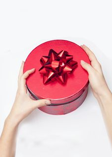Free Red Box With Bow Stock Images - 18193524