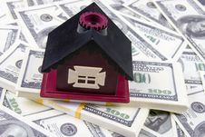 House Of One Hundred Dollar Bills Stock Photo