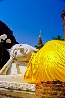 Buddha Image At Wat Yai Chaimongkol Stock Photos