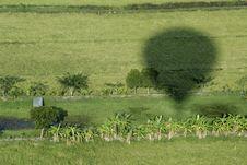 Free Shadow  At Hot Air Balloon Above. Stock Photography - 18195202