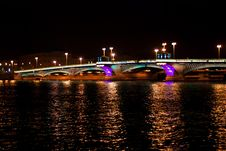 Night Bridge In St. Petersburg City Royalty Free Stock Photos