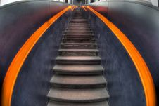 Free Stairs In Black And Orange Royalty Free Stock Photo - 18195695