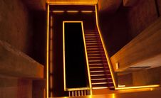 Free Orange Lit Staircase Stock Photos - 18195833