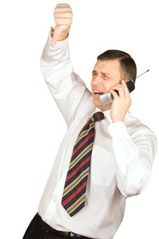 Free Emotion Of Disappointment Of The Businessman Stock Photo - 18195900