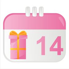 Free St. Valentine S Day Calendar Icon Stock Photography - 18196042