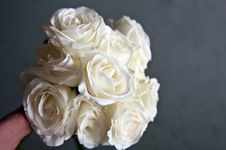 Free Bouquet Of White Roses Stock Photos - 18196233