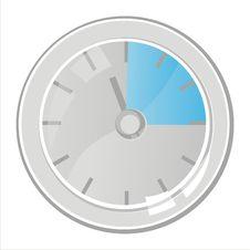 Free Clock Isolated On White Royalty Free Stock Photo - 18196525