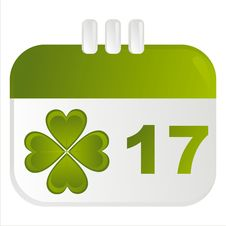 St. Patrick S Day Calendar Icon Stock Photography