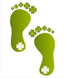 Free St. Patrick S Day Foot Steps Stock Images - 18196544