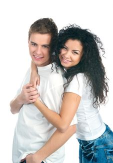 Free Young Couple Royalty Free Stock Photography - 18196617