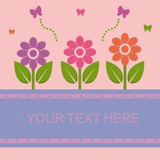 Free Cute Spring Card Royalty Free Stock Photography - 18196817