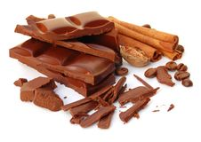 Free Broken Chocolate Stock Photography - 18196872