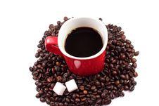Free Red Mug With Coffee Stock Image - 18197341