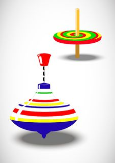 Free Whirligig And A Spinner Royalty Free Stock Images - 18197469
