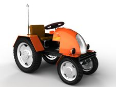 Free Orange Tractor With A Chrome Tube №1 Stock Images - 18197504