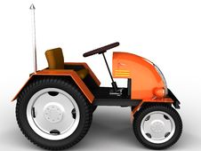 Free Orange Tractor With A Chrome Tube №2 Royalty Free Stock Image - 18197516