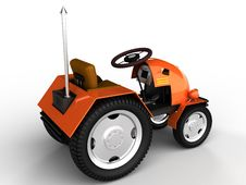 Free Orange Tractor With A Chrome Tube №3 Stock Images - 18197534