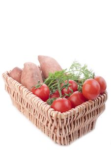 Free Basket Of Vegetables Royalty Free Stock Images - 18198409