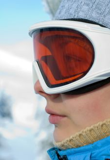 Free Woman Face In Ski Mask Stock Image - 18199001