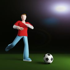 Free 3D Soccer Stock Photos - 18199113