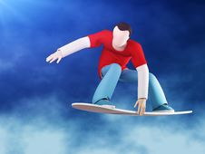 Snowboarder 3D Grab