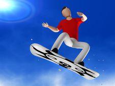 Free Snowboarder 3D Man Stock Photo - 18199370