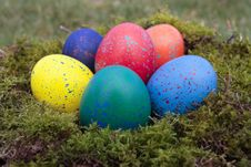 Free Colored Easter Eggs Royalty Free Stock Photography - 18199777