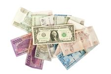 Free Isolate Dollars Money Bills On A White Background Royalty Free Stock Image - 18199856