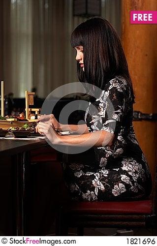 Free The Girl Eat Sushi 2 Royalty Free Stock Image - 1821696