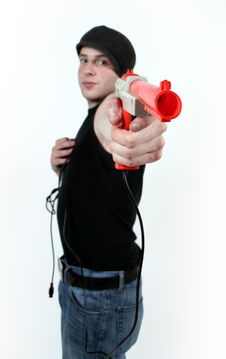 Free A Man Shooting A Gun Stock Images - 1820114