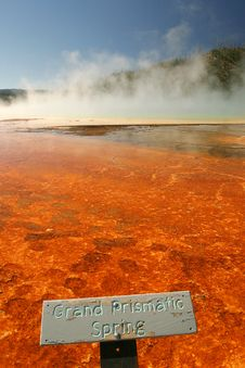 Grand Prismatic Spring Royalty Free Stock Photo