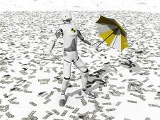 Raining Dollars Royalty Free Stock Images