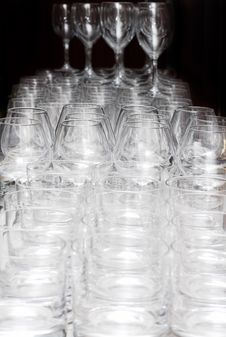 Many Glasses On The Table Stock Photos
