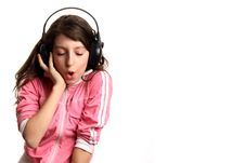 Free The Girl Listens To Music Royalty Free Stock Photography - 1822257