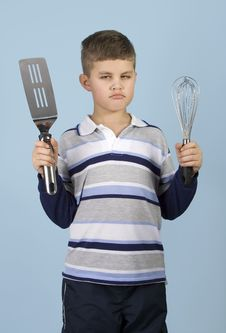 Free Young Chef Getting Angry! Stock Photography - 1822722