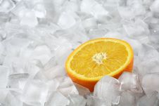 Free Orange On Ice Royalty Free Stock Images - 1823489