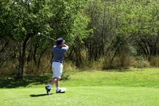 Free Golfer On The Tee Box. Royalty Free Stock Photo - 1823855